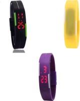 MyValueStore MVS_Three Set_366 Sports LED Digital Watch  - For Boys, Girls, Men, Women