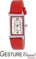 Gesture 8240-SL-RD Elegant Analog Watch  - For Women