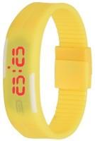 3wish LED RUBBER MAGNET YELLOW Digital Watch  - For Boys, Girls, Men, Women