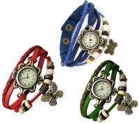 Jack Klein JackBlGrRed Analog Watch  - For Girls, Women
