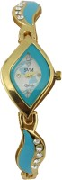 SVM Blue-0045 Golden Chain Analog Watch  - For Women