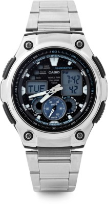 Casio Youth Combination Analog Digital Watch   For Men Silver available at Flipkart for Rs.4995