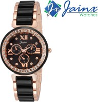 JAINX JW542 Black Dial Swiss Pattern Analog Watch  - For Women