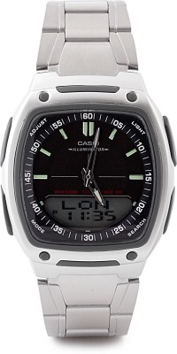 Casio Youth Analog Digital Watch   For Men Silver available at Flipkart for Rs.2376