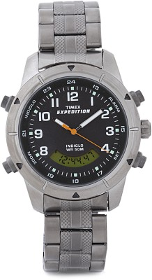 Timex Expedition Combo Analog Digital Watch   For Women, Men Metallic Grey available at Flipkart for Rs.4395