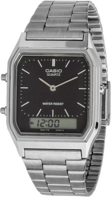 Casio Standard Analog-Digital Watch - For Men Silver