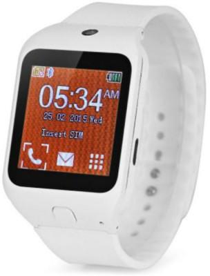 Kenxinda Mobile W3 Wrist White Smartwatch (White Strap)