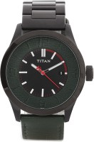 Titan Analog Watch  - For Men - Dark Green, Dark Grey