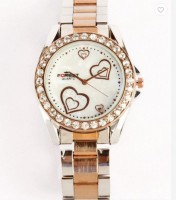 Addic Forest Heart Display Rose Gold Diamonds M105 Analog Watch  - For Women