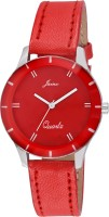 Jainx JW529 JAINX RED DIAL ANALOGUE WATCH FOR WOMEN'S AND GIRLS JW529 Analog Watch  - For Women, Girls