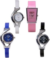Ecbatic Pink Sq.,White,Blue,Black Glory Analog Watch  - For Girls, Women