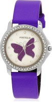 Fostelo FST-175 Purple Butterfly Analog Watch  - For Women