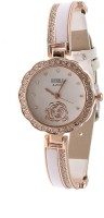 RBS Online Trading Company White Diamond Studded Dual Colour Analog Watch  - For Girls, Women