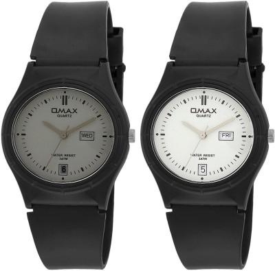 Omax Wrist Watches FS142_143_Grey_White