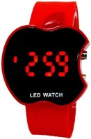 KMS Apple_Look_Led_Red Digital Watch  - For Men, Women, Girls, Boys