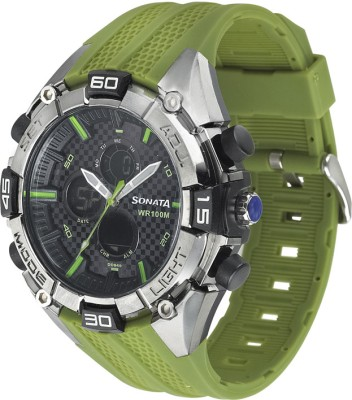 Sonata Superfibre Ocean III Analog-Digital Watch - For Men
