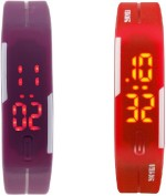 Lime Wrist Watches Lime Purple Redbandwatch Digital Watch For Men