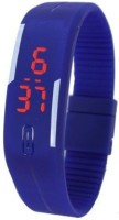 3wish Led Rubber Magnet Blue. Digital Watch  - For Boys, Girls, Men, Women