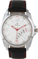 Nova MT-DOD-WHT-BLK-47 Silver Rim Analog Watch - For Men