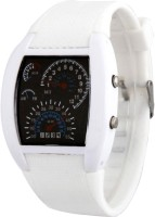 Jack Klein JK Meter Led White Analog Watch  - For Men