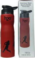 Shoppersgreed H20 SB 104 Stainless Steel Water Bottle / Sipper 750 Ml Water Bottle (Set Of 1, Red And Black)