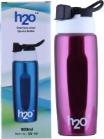 H2O REGULAR SPORTS BOTTLE 600 Ml Water Bottle (Set Of 1, PINK)