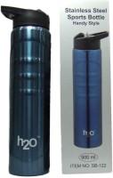 EDeal H2O SB-122 Black 900 Ml Water Bottle (Set Of 1, Black)