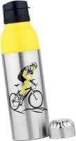 Breeze Steel And Plastic 1000 Ml Water Bottle (Set Of 1, Black, Yellow, Silver)
