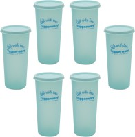 Tupperware Rainbow Tumbler 340 Ml Water Bottles (Set Of 6, Green)