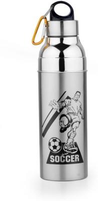 BREEZE Steel And Plastic 1000 Ml Water Bottle (Set Of 1, Steel, BLACK)