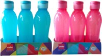 SHREEJEE CLASSIC 1000 Ml Water Bottles (Set Of 6, BLUE AND RED)