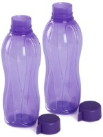Tupperware Round Series 1000 Ml Water Bottles (Set Of 2, Purple)