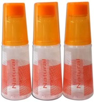 Fairfood Transparent 1000 Ml Water Bottles (Set Of 3, Orange)