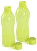 Tupperware Round Series 1000 Ml Water Bottles (Set Of 2, Yellow)