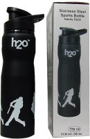 EDeal H2O SB-104 Black 750 Ml Water Bottle (Set Of 1, Black)