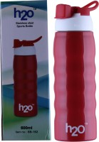 H2O SPORTS BOTTLE 600 Ml Water Bottle (Set Of 1, RED)