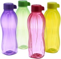 Tupperware Aqua Safe 1000 Ml Water Bottles (Set Of 4, Pink, Blue, Green, Yellow)
