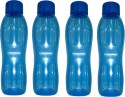Signoraware Aquafresh 1000 Ml Water Bottles - Set Of 4, Blue