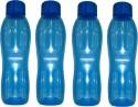 Signoraware Aquafresh 1000 Ml Water Bottles - Set Of 4, Blue