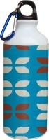 Tiedribbons Blue Background And White And Brown Pattern 600 Ml Water Bottle (Set Of 1, Multicolor)