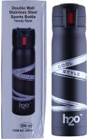 H2O HOT & COLD BOTTLE 500 Ml Water Bottle (Set Of 1, BLACK)
