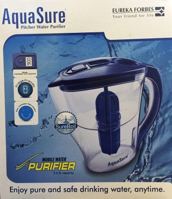 Eureka Forbes Mobile 2.5 L Gravity Based Water Purifier (Blue, White)