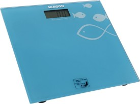 SAMSON Coloured Toughened Glass Top Weighing Scale