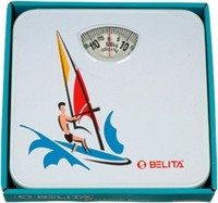 Belita Personal Analog Bathroom Scale Weighing Scale (White, Multi Color)