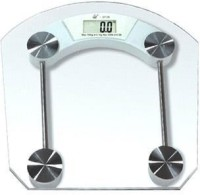 Creative Via Square High Quality Premium Thick Glass Digital Machine Weighing Scale (Transparent)