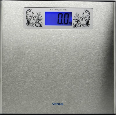 Venus Digital Metal Body With Back Light Weighing Scale - Silver