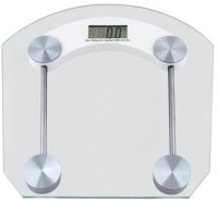 CreativeVia Accurate Body Fat Monitor Square Weighing Scale (Transparent)