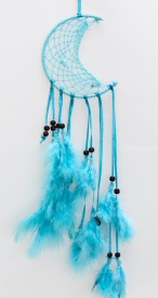 Daedal Dream Catchers Crescent blue Wool Windchime