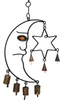 Boxmywish Moon And Star Iron, Brass Windchime