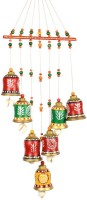 ExclusiveLane Handpainted Bell Hanging Multicolour Terracotta Windchime